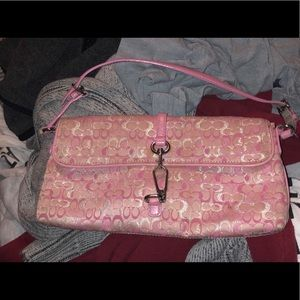 Pink Coach Clutch/Wallet